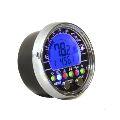 Acewell Digital Dash Black/Chrome Speedo ACE-2853