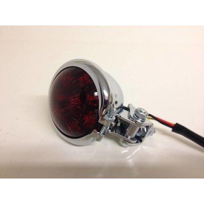 Shin Yo Bates LED Red / Chrome Cafe Racer Tail Light