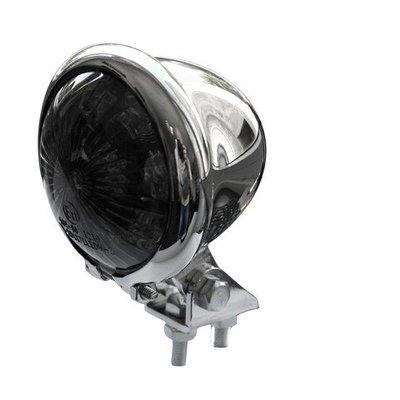 Shin Yo Bates Style  Style LED Smoke / Chrome Cafe Racer Tail Light