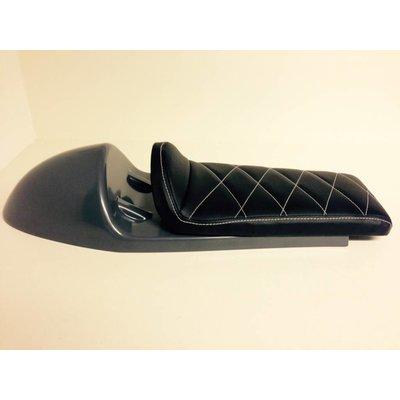 Cafe Racer Seat Diamond Stitch Black Type 27