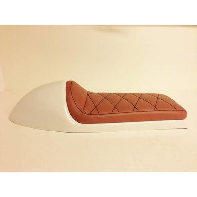 Cafe Racer Seat Diamond Stitch Brown Type 30