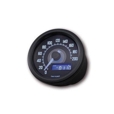 Daytona Velona 200 km/h Speedo Black