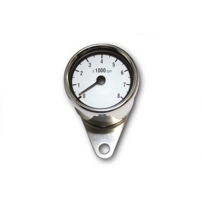 8.000 RPM Cafe Racer Tachometer Chrome