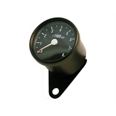 8.000 RPM Cafe Racer Tachometer Black