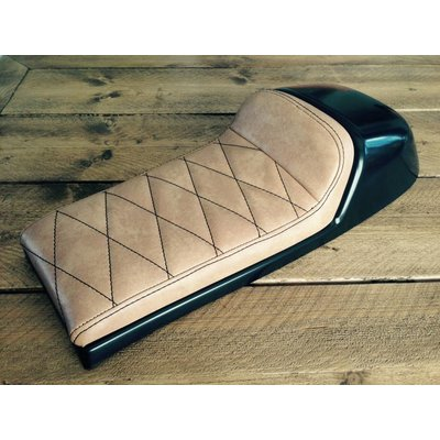 Cafe Racer Seat Diamond Stitch Vintage Brown Type 23