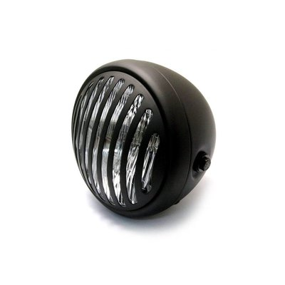 """6.75"""" Steampunk Cafe Racer Matte Black Headlight"""