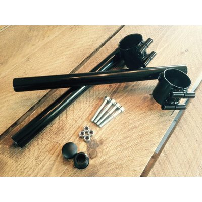 """7/8"""" or 22MM Black Clipons 33mm to 41mm"""