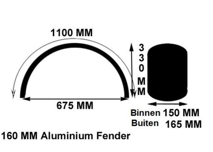 160MM Bobber Fender Steel