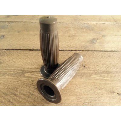 Cafe Racer Grips Latte Brown