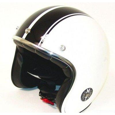 MT Le Mans Retro Jet White/ Black