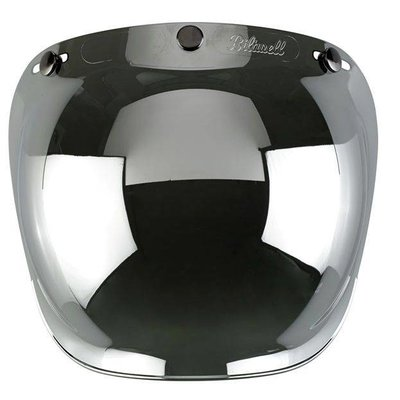Biltwell Chrome Mirror Bubble Visor