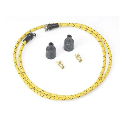 Spark Plug Kit Braided Wire Yellow