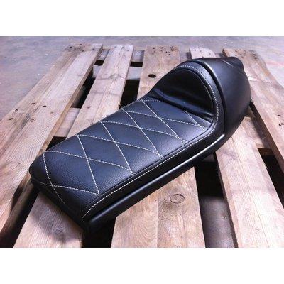 Cafe Racer Seat Diamond Stitch Black Built In Tail Light Type 92