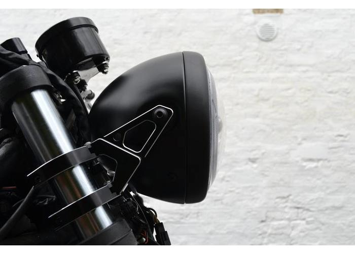 """Motorcycles United 7.7"""" Premium Project & Halo Cafe Racer Headlight"""