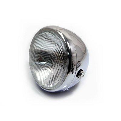 "MCU 6.75"" Classic Chrome Cafe Racer Headlight"