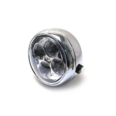 """MCU 5.5"""" Chrome Projector Cafe Racer Headlight"""