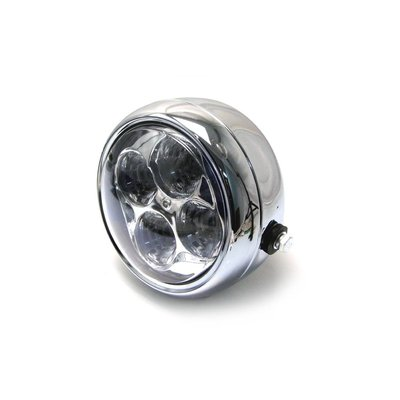 "Motorcycles United 5.5"" Chrome Projector Cafe Racer Headlight"