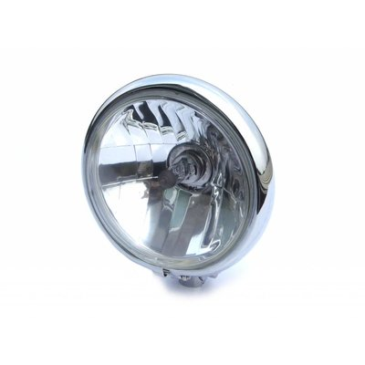 """Motorcycles United 5.75"""" Classic Chrome Headlight with Bottom Mount"""