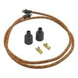 Lowbrow Custom Braided Spark Plug Cable 7MM GOLD