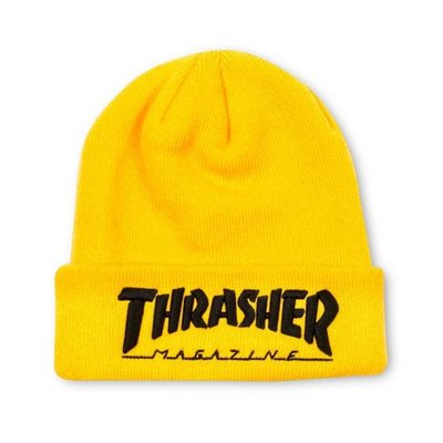 Thrasher Embroidered Logo Beanie - Yellow