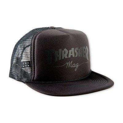 Thrasher Logo Mesh Cap - Black