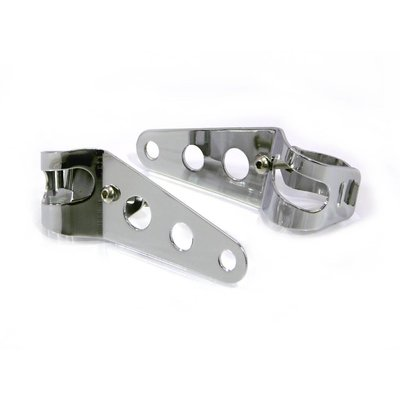 Motorcycles United 32mm - 40mm Chrome Headlight Brackets