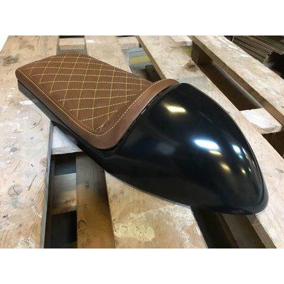 Cafe Racer Seat Chocolat Diamond Stitch Brown / Yellow Type 26