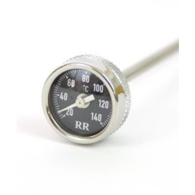 Oil temperature dipstick long, 285mm length, for R2V models with long oil-dipstick Black dial