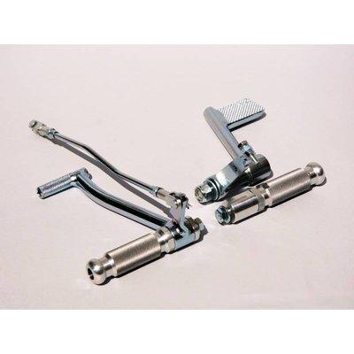 Adjustable Short Shifter Gear Selector Lever and Peg - Black - Copy