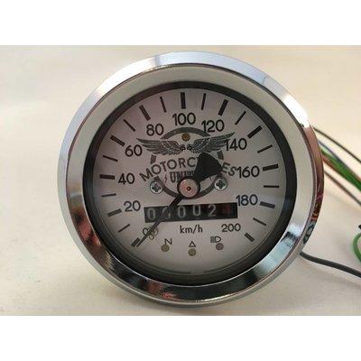 MCU 60MM BMW Speedometer Chrome/White + 4 extra functions
