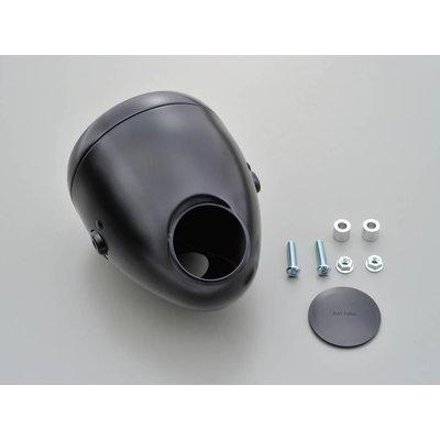 "Daytona 5.75"" Vintage Headlight with Gauge Hole Black/Black"