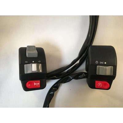 Aluminium Bar-Switch Set Left + Right 22mm