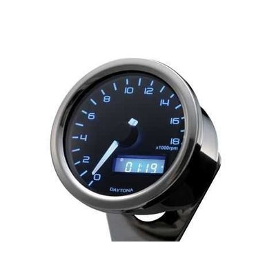 Daytona Velona Tachometer Chrome 18.000 RPM