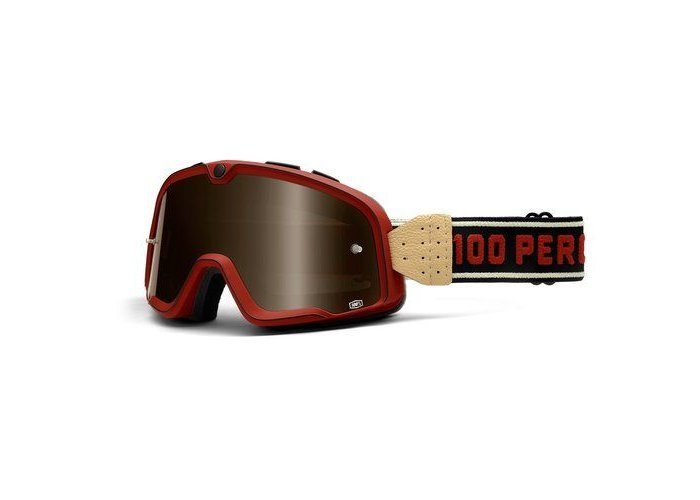 100% The Barstow Legend Classic Red Bronze Goggle