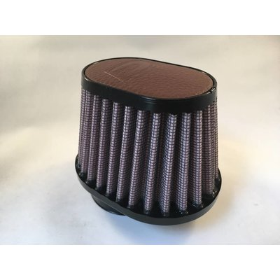 DNA 44MM Oval Filter Leather Top Dark Brown