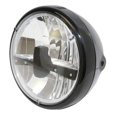 "Highsider 7"" Clear Black Headlight RENO 3"