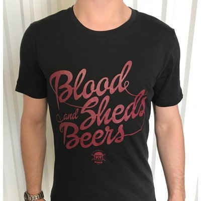 Cafe Racers United Blood, Sheds and Beers T-Shirt