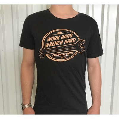 Cafe Racers United Work Hard, Wrench Hard T-Shirt