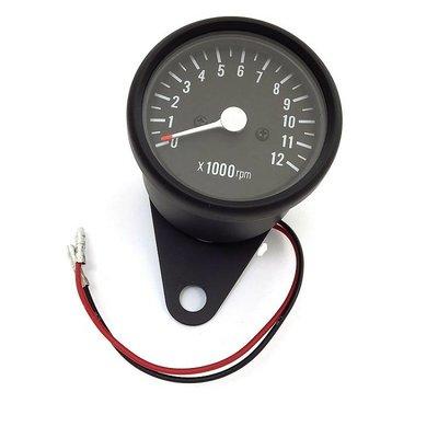 60MM Black Mechanical Tachometer RPM