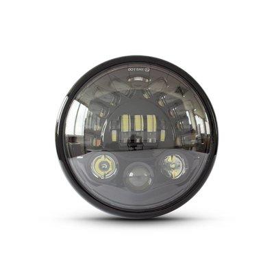 """7.7"""" Multi LED Headlight + Indicators Black"""