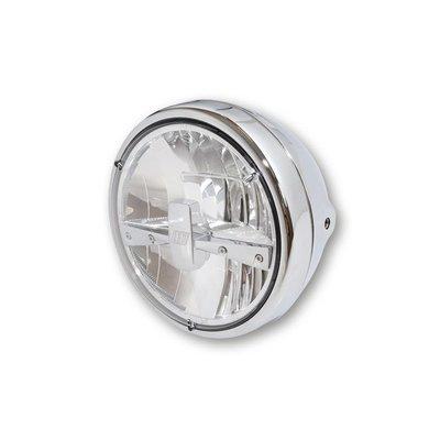 "Highsider 7"" Clear Chrome Headlight Reno 3"