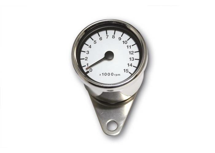 15.000 RPM Cafe Racer Tachometer Chrome