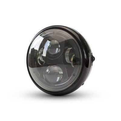 "7"" Modern Multi LED Headlight - Black"