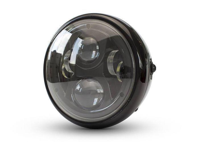 "7"" Modern Multi LED Headlight - Black"
