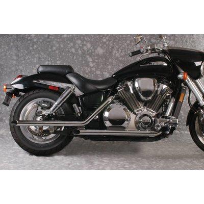 MAC Exhausts Honda VTX 1800 Exhaust Drag Pipes Slash Cut