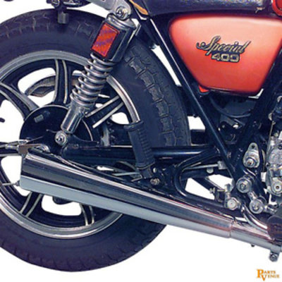 MAC Exhausts Yamaha XS 400 Muffler Megaphone 2-Into-2