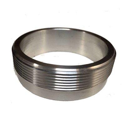 """Aluminium 2.5"""" Flange with threading (for Monza caps)"""
