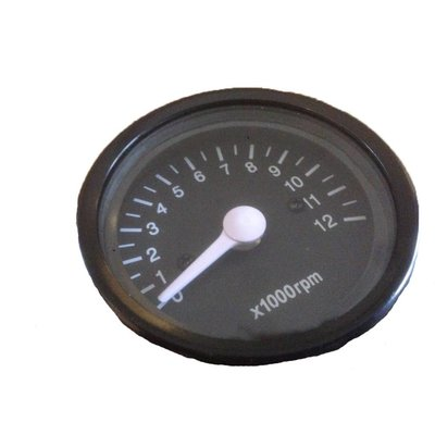 Tachometer 12.000 RPM Black