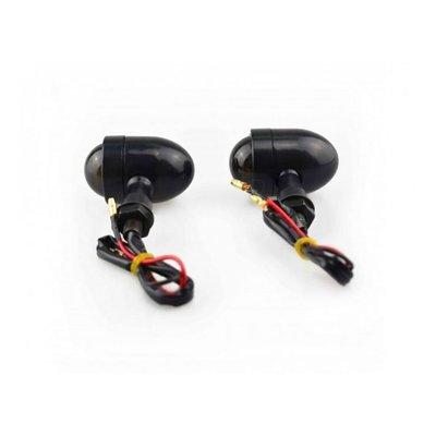 Set Mini Black & Smoke Bullet Indicators