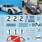 FORD GT 40 MK2 / 1. - 2. LEMANS 1966